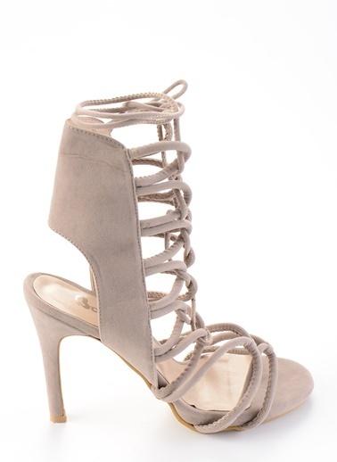 Bambi Topuklu Ayakkabı Vizon